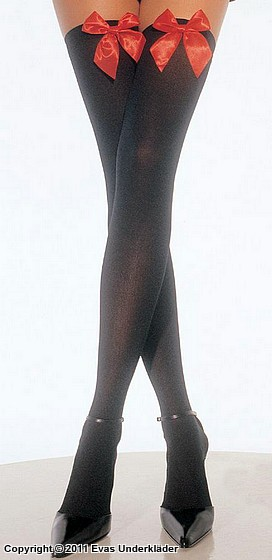 Stockings med rosetter, plus size, 4
